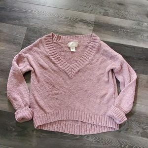 Ruby Moon pink comfy cropped sweater